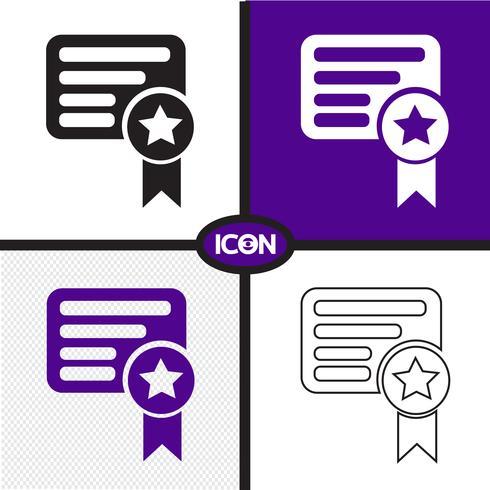 Certificado, símbolo, sinal símbolo vetor