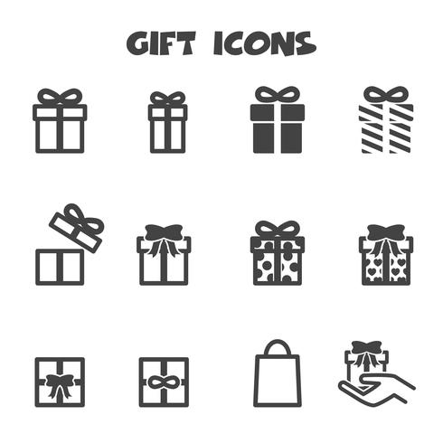 gift icons symbol vector