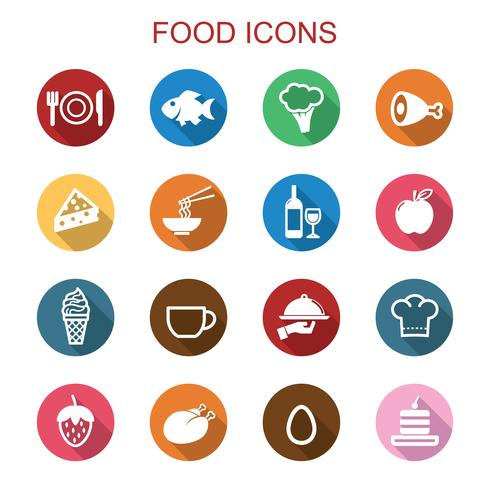 icone di cibo lunga ombra