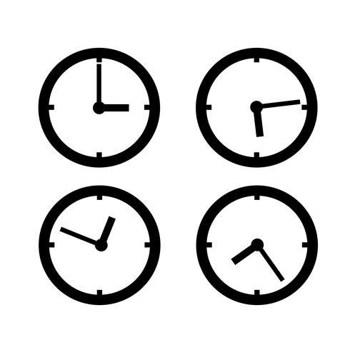 Segno di simbolo dell'icona dell'orologio