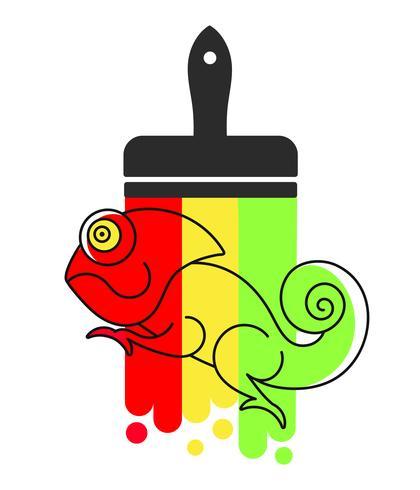 Kameleon pictogram. Cartoon Illustratie Van Wandelen Kameleon vector