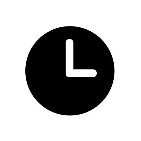 Uhrensymbol Symbol Zeichen vektor