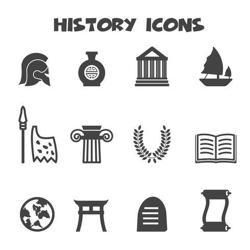 history icons symbol