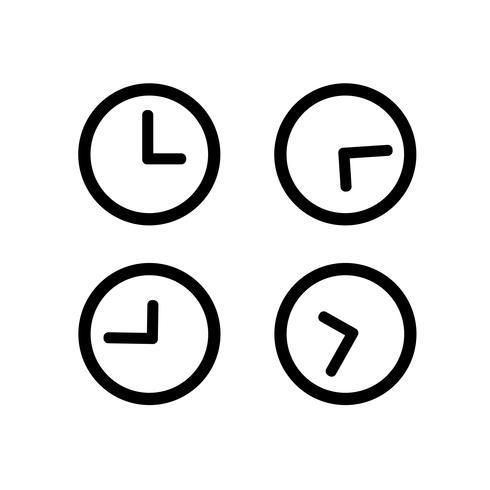 Icono de reloj símbolo de signo vector