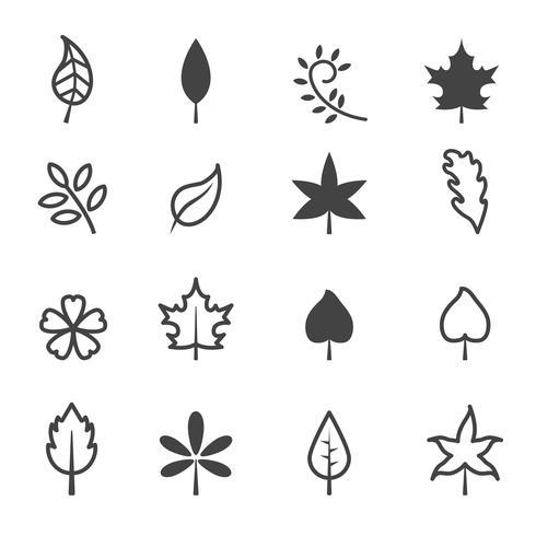 símbolo de los iconos de la hoja