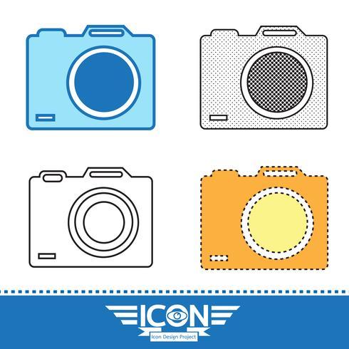 icono de cámara símbolo de signo vector