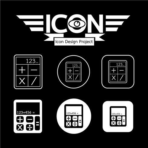 Signe de symbole icône calculatrice