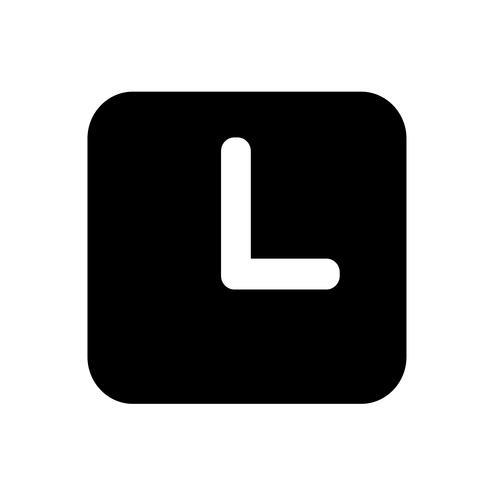 Clock icon  symbol sign vector