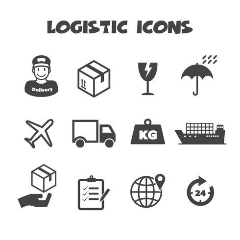 simbolo di icone logistiche