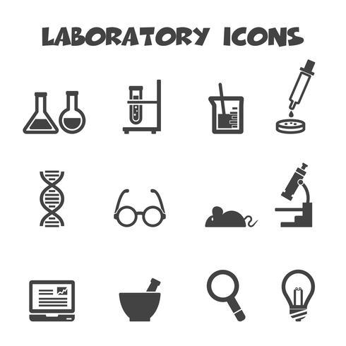 laboratory icons symbol vector