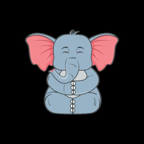 Minimal vector png elephant illustration