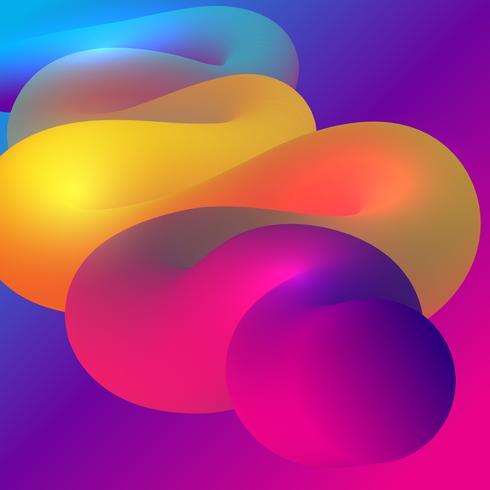 Priorità bassa astratta di disegno con figura scorrente di stile 3D vettore