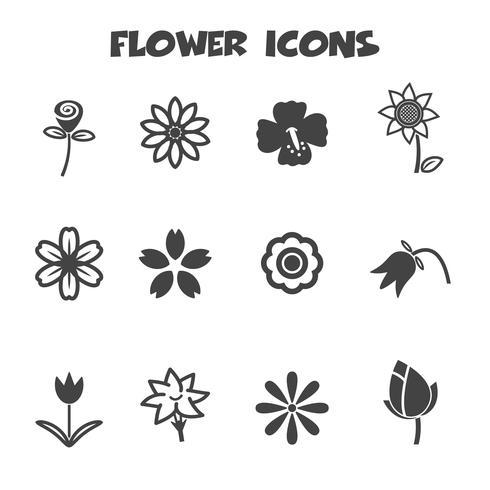symbole d'icônes de fleur