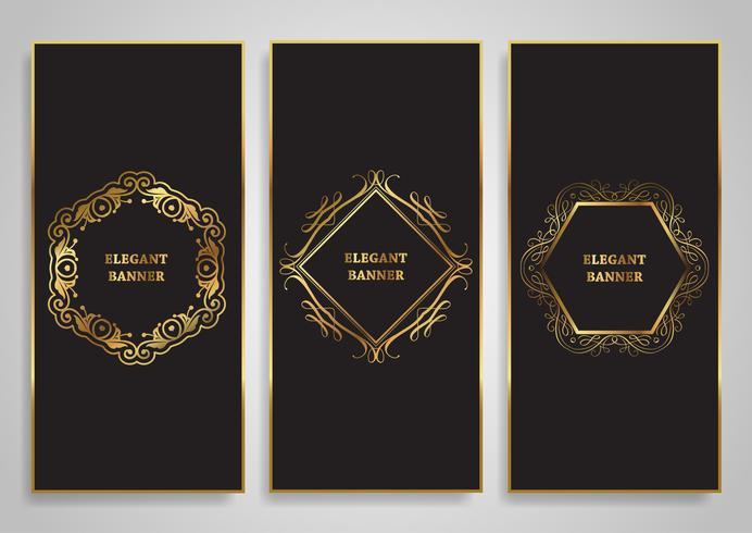 Diseños de banner elegantes vector