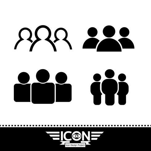 people icon  symbol sign vector