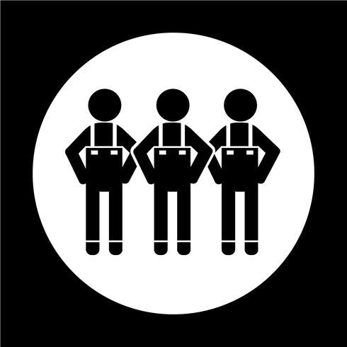 Icono de la gente símbolo de signo