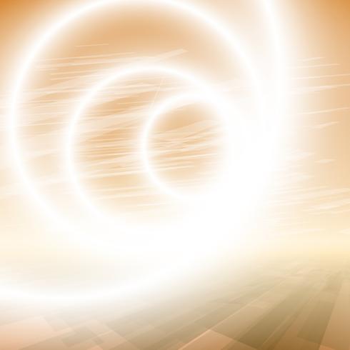 Abstrakt aura lysande cirkel vektor bakgrund