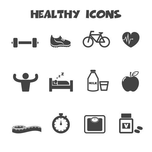 hälsosam ikon symbol vektor