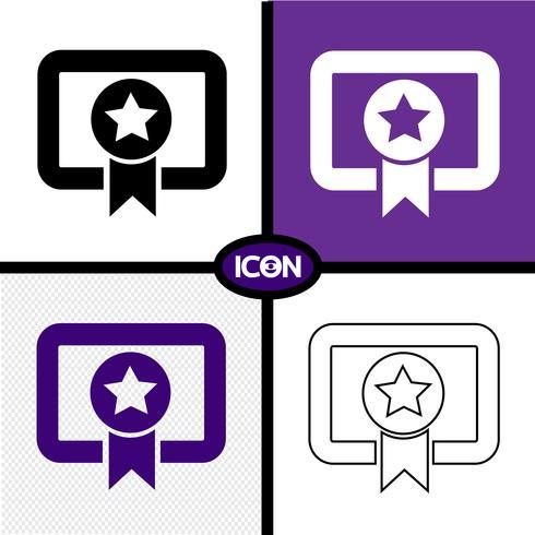 Certificado icono símbolo signo vector