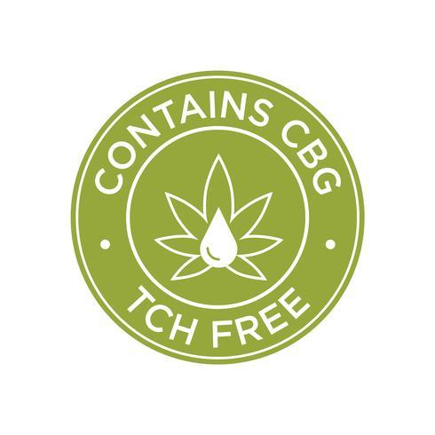 Enthält CBG. THC Kostenlose Icons.