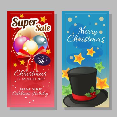 bannière verticale dans le thème de Noël