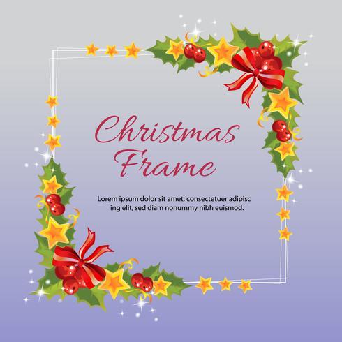 vierkant Kerstmiskader met ster