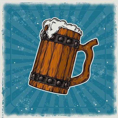 Trämos av öl