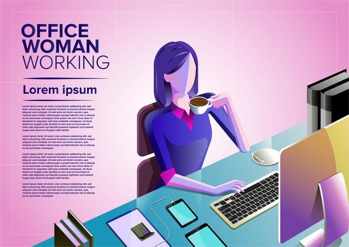 Office Woman Art