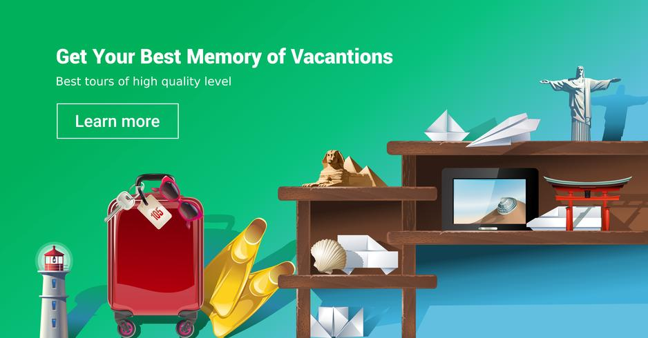 Loading page web site to provide tourist services