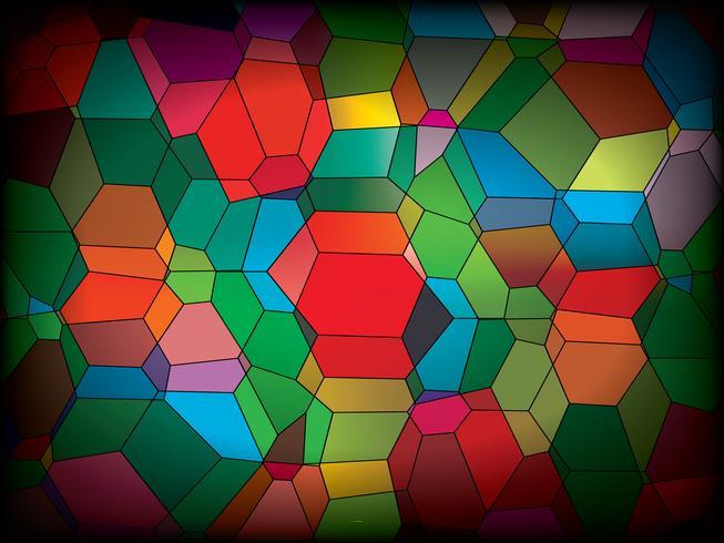 Coloree el fondo de cristal del mosaico en arte gráfico de vector. vector