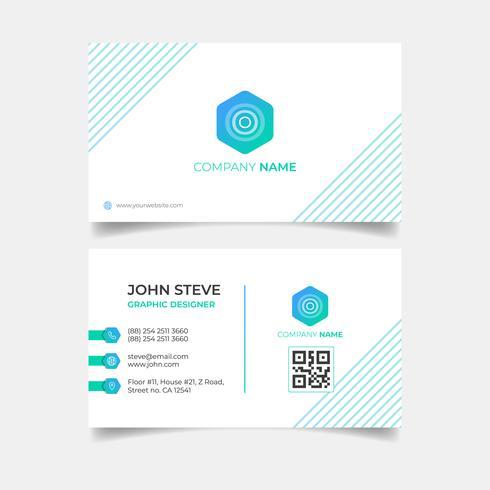 Plantilla de tarjeta de visita profesional vector