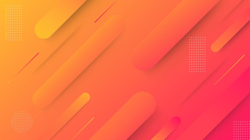 Abstract gradient geometric background. Simple shapes with trendy gradients vector