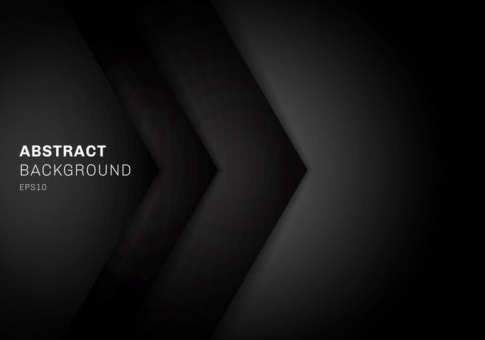 Abstrakt mall 3D svart triangel med överlappande papperslagergradient färg med kopia utrymme bakgrund.
