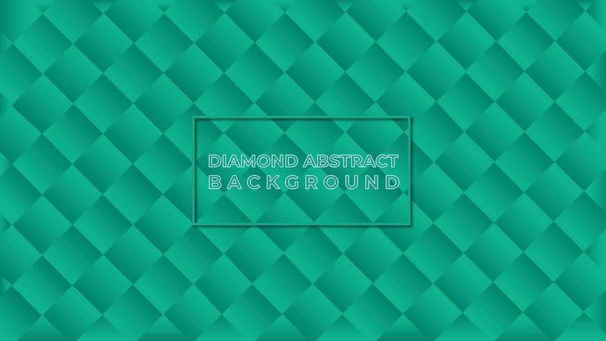 Fondo verde del extracto del diamante vector