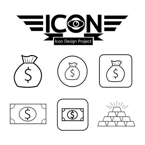 Money icon  symbol sign