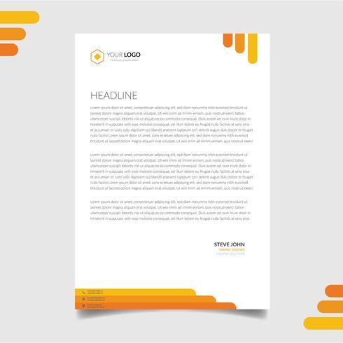 Corporate letterhead template vector