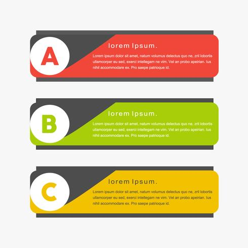 Minimal colorful creative vector png banners