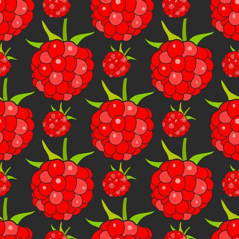 Seamless Background With Raspberries, Vector Image Ready For Your Design