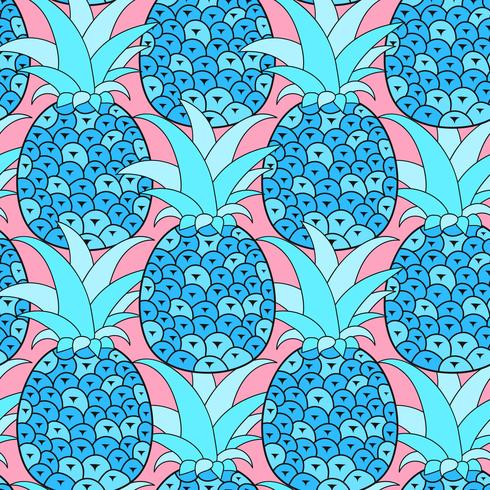 Nahtloses Muster der Ananas. Tropischer Hintergrund. Vektor-illustration.Ready For Your Design, Grußkarte