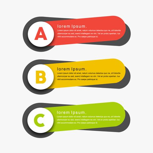 Modern creative colorful minimal vector banners
