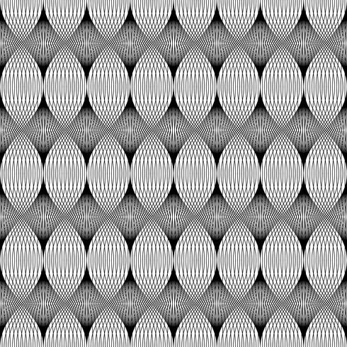 Patrón sin costuras, línea negra. vector
