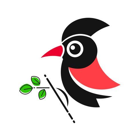 Specht. Vogel Tier Abstrakt Vektor Vorlage Zoo Wildlife Business Icon Natur Firma