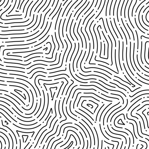Fingeravtryck sömlös bakgrund på fyrkantig form. vektor