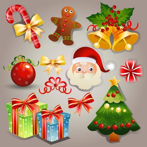 vector de conjunto de elementos de Navidad