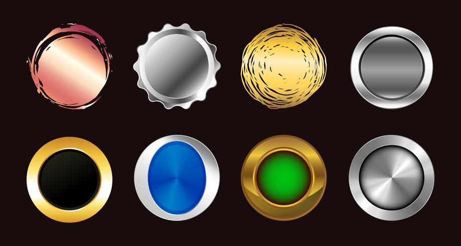 conjunto de botones de colores. iconos vectoriales colección de símbolos. vector