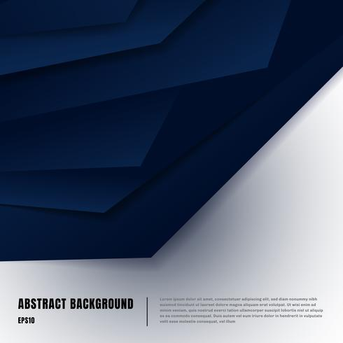 Plantilla de diseño de estilo de arte de papel abstracto vector