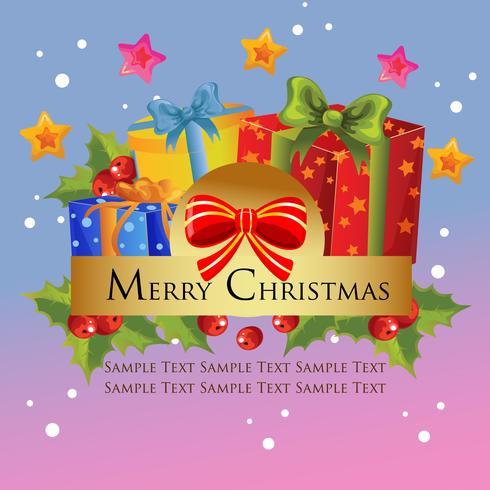christmas theme with present