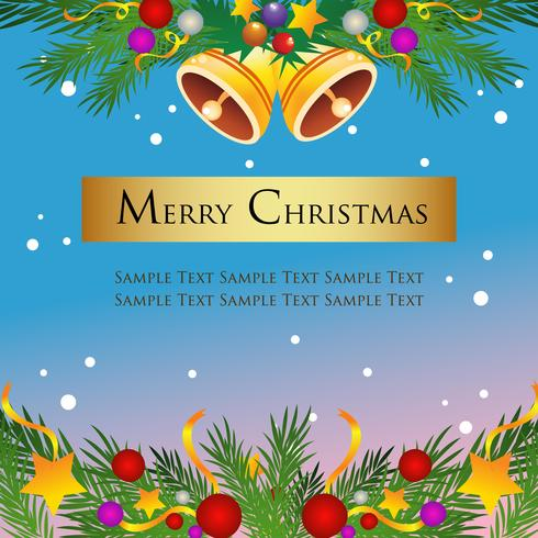 blaues goldenes Weihnachtsthema