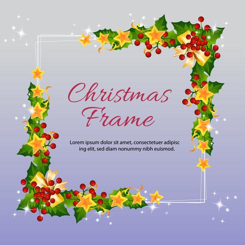 christmas frame with star