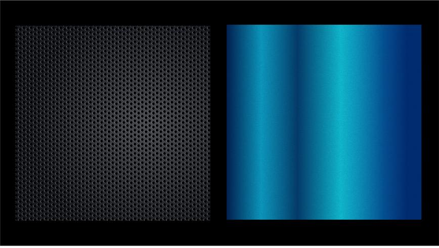Big collection colorful gradients. Metallic gradients consisting backgrounds. Vector.